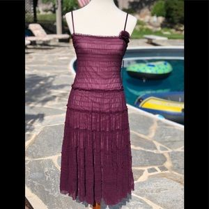 Max Studio XS wine broom skirt summer dress